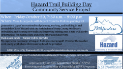 Hazard Trail Building Day: Community Service Project