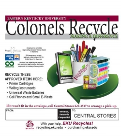 """Colonels Recycle"" Envelopes"