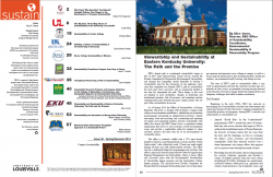 EKU featured in SUSTAIN Special Issue on Kentucky Campus Sustainability