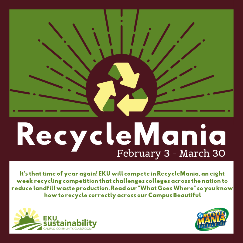 EKU Participates in RecycleMania 2019!